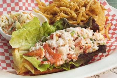 The lobster roll at Legal Sea Foods in King of Prussia