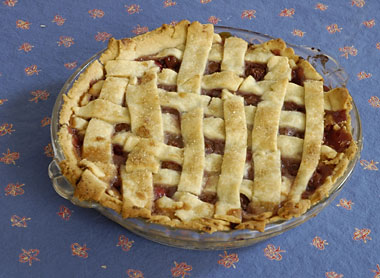 Scott's homemade cherry pie