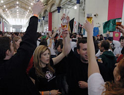 People cheering at Philly Craft Beer Festival