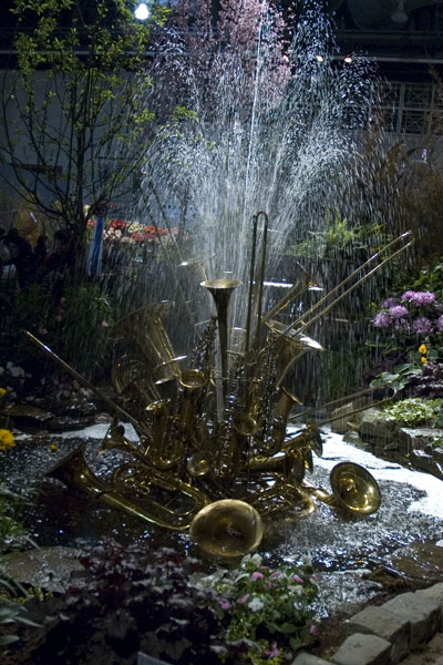 Philadelphia Flower Show 2008 - brass fountain