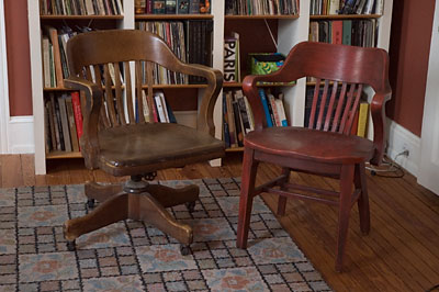 Rescued oak chairs